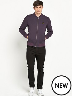 lyle-scott-lyle-amp-scott-herringbone-zip-through-sweat-bomber