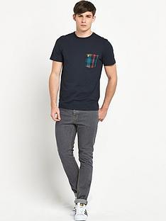 lyle-scott-tartan-pocket-t-shirt