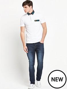 lyle-scott-tartan-woven-collar-mens-polo-shirt