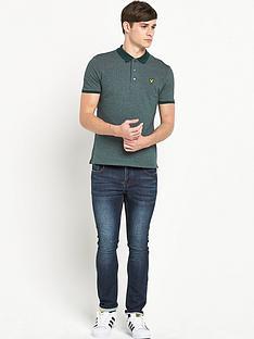 lyle-scott-herringbone-polo-shirt