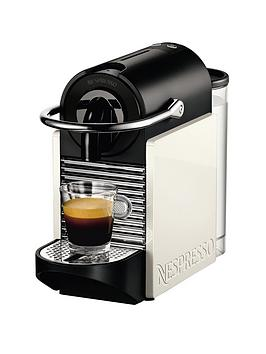 Nespresso Pixie Clips Coffee Machine by Magimix  White and Neon Coral