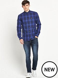 lyle-scott-tartan-twill-shirt