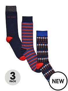 ted-baker-ted-baker-3pk-paintbrushplain-sock