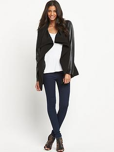 oasis-oasis-cara-pu-sleeve-high-neck-drape-jacket