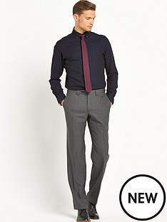 remus-uomo-tapered-fit-dobby-mens-shirt-ndash-navy
