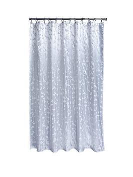 AQUALONA Aqualona Metallic Leaf Soft Peva Shower Curtain Picture