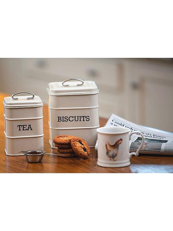 11x17cm Cream Living Nostalgia Sugar Canister Tagged-Cream 11 X Kitchen