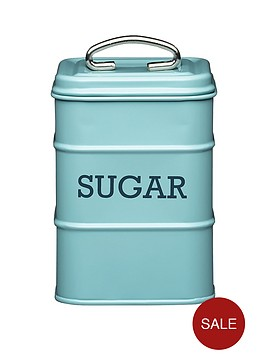 living-nostalgia-vintage-sugar-tin-blue