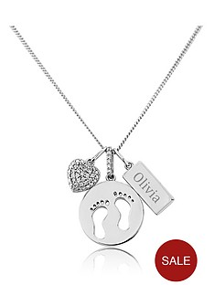 keepsafe-personalised-sterling-silver-footprints-heart-and-tag-charm-pendant