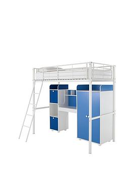 Kidspace New Metro High Sleeper Bed With Wardrobe Desk And Storage  High Sleeper Only