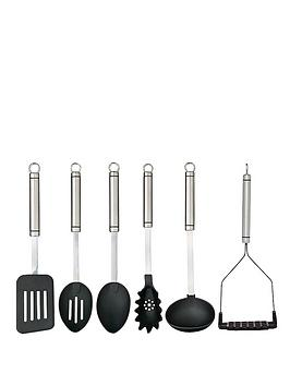 master-class-professional-stainless-steel-kitchen-utensil-set-6-piece