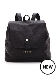 ted-baker-ted-baker-leather-stab-stitch-backpack-black