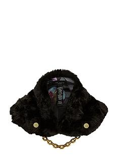 ted-baker-faux-fur-collar-black