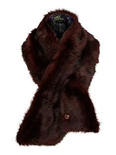 ted-baker-faux-fur-scarf-oxblood