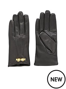 ted-baker-leather-bow-glove-black