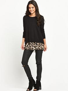 v-by-very-printed-chiffon-back-jumper