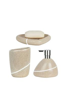 spirella-etna-set-of-3-bathroom-accessories-sand