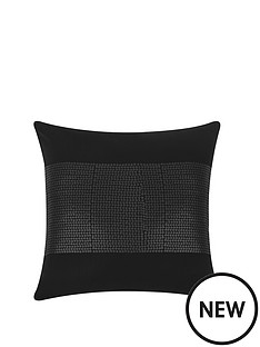catherine-lansfield-silk-sequin-cushion-black-43x43