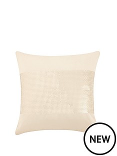 catherine-lansfield-silk-sequin-cushion-cream-43x43