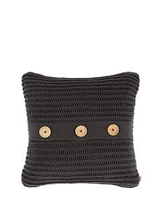 catherine-lansfield-soft-touch-knitted-cushion-charcoal