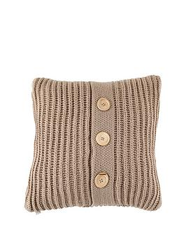 Catherine Lansfield Catherine Lansfield Knitted Cushion - Natural (45 X 45  ... Picture