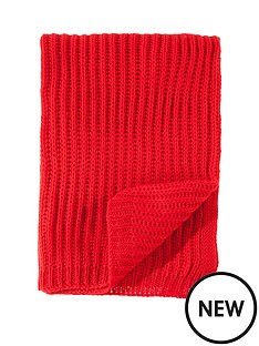catherine-lansfield-knitted-throw-red