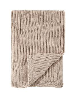 Catherine Lansfield Catherine Lansfield Soft Touch Knitted Throw - Natural Picture