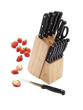 kitchen-craft-13-piece-knife-set-with-wooden-block