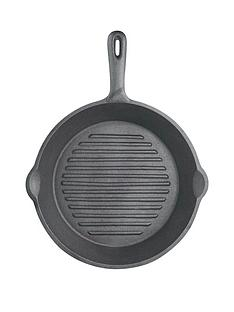 kitchen-craft-24-cm-deluxe-cast-iron-round-ribbed-grill-pan
