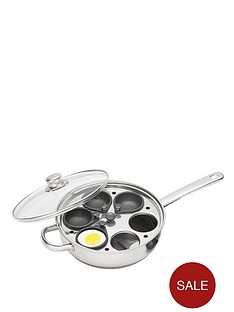 kitchencraft-28-cm-six-hole-egg-poacher-stainless-steel