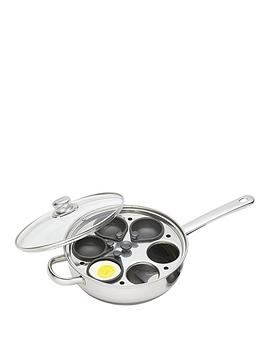 kitchencraft-clearview-stainless-steel-28-cm-6-hole-egg-poacher-with-glass-lid