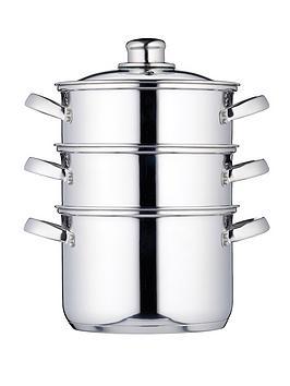 kitchen-craft-3-tier-18-cm-steamer-stainless-steel