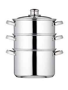 kitchen-craft-3-tier-20-cm-steamer-stainless-steel