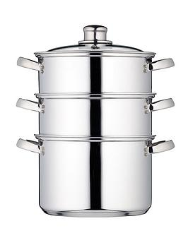 kitchen-craft-3-tier-20-cm-steamer-stainless-steel