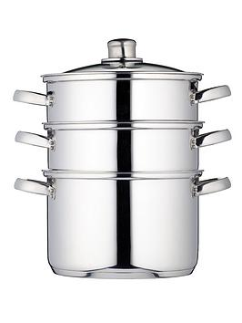 kitchen-craft-3-tier-22-cm-steamer-stainless-steel