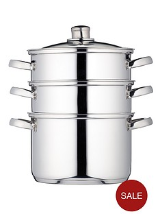 kitchencraft-3-tier-22-cm-steamer-stainless-steel