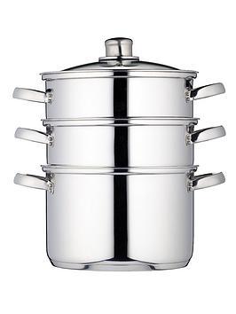 Kitchencraft Kitchencraft 3-Tier 22 Cm Steamer - Stainless Steel Picture