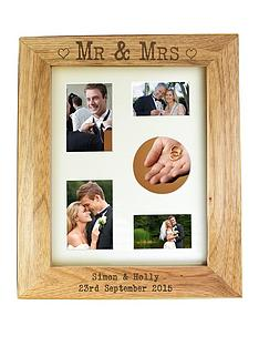 personalised-mr-mrs-wooden-photo-frame