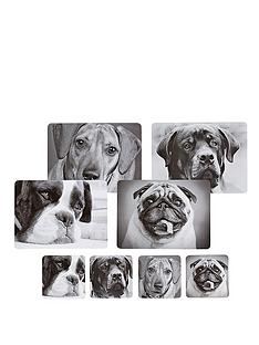 kitchen-craft-8-piece-dog-placemats-and-coaster-set