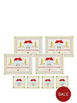 kitchen-craft-8-piece-cork-back-laminated-placemats-and-coaster-set-home-sweet-home