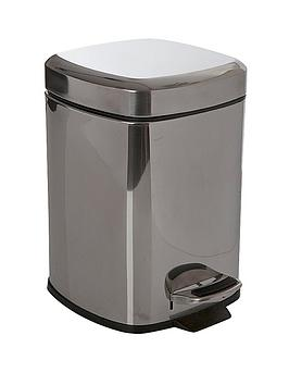 sabichi-6-litre-square-pedal-bin-stainless-steel