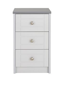 Very Alderley Ready Assembled 3-Drawer Bedside Chest