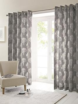 Very Silvestry Printed Eyelet Curtains Picture
