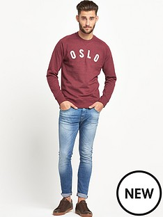 goodsouls-goodsouls-burgundy-raglan-sleeve-logo-applique-sweatshirt