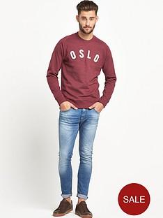 goodsouls-goodsouls-burgundy-raglan-sleeve-logo-applique-sweatshirt