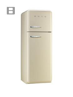 Smeg Fab30rfc 60cm 50s Retro Style Fridge Freezer Cream