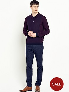 ted-baker-knitted-panelled-polo-shirt