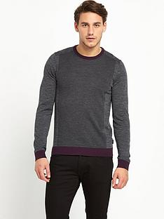 ted-baker-colourblock-crew-neck-mens-jumper