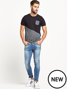 goodsouls-goodsouls-black-fashion-cut-and-sew-t-shirt
