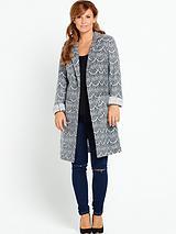 Coleen Rooney Lace Textured Coat